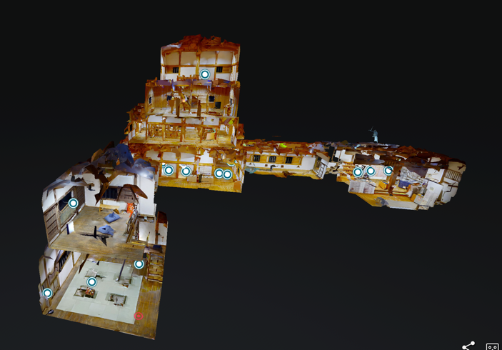 城内をVRで探検。 大洲城キャッスルステイを疑似体験いただけます。